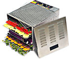 Commercial Grade 10 Tray Food Dehydrator 1200W  STAINLESS STEEL - FREE SHIPPING!