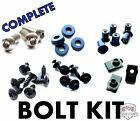Complete Fairing Bolt Kit Push Pins Nuts Stainless for Honda CBR600 F4 F4i 99 07