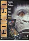 CONGO Movie Pinball Arcade Flyer by Williams, LOW shipping