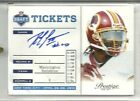 2012 PRESTIGE DRAFT TICKETS ROOKIE AUTOGRAPH #2 ROBERT GRIFFIN III RC AUTO