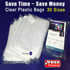 Multiple Sizes 1Mil Clear Lay flat Poly Bags Open Top Plastic Packing Baggies