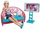 Barbie Movies To Munchies Living Room Set Doll Couch TV T9080 NEW