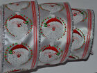 Wired Ribbon~Santa Claus~Christmas Sparkle Silver~Winter White~Holiday~Gift~Bow