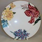 Fitz Floyd BARIOLAGE DES FLEURS 2 Salad Plates White Background A+ CONDITION