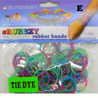Rubbzy 100 pc Special Edition Tie Dye Glitter Rubber Bands w 4 Connectors265