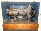 Vintage Tested Domestic Rotary Sewing Machine E-6354 with Carrying Case & Extras