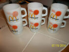 LOT of 6 Vtg FIRE KING Anchor Hocking McDONALDS Good Morning Mugs 1 has MISTAKE