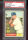 1961 Topps #35 Ron Santo Chicago Cubs Rookie PSA 7 NM Graded Baseball Card