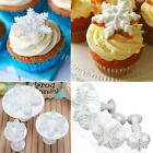3pcs Snowflake Fondant Cake Decorating Sugarcraft Cutter Plunger Mold Mould