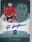 2012-13 THE CUP ED BELFOUR ENSHRINEMENTS AUTO # 03 50 BLACKHAWKS