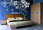 Hand Carving Butterfly Vine Flower Wall Art Stickers Decals UK 52