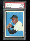 1961 Topps #482 1954 MVP Most Valuable Player Willie Mays PSA 8 Graded Card