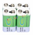4 x 9V Ni-Mh 300mAh Rechargeable Battery BTY PP3 block