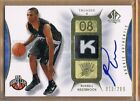 2008-09 SP Authentic Russell Westbrook Autograph Patch Rookie 299 Thunder Tag