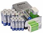 12AA 3000mAh+12AAA 1000mAh+ 2x 9V 300mah Ni-Mh BTY Rechargeable Battery+Charger