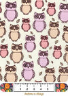Snuggle Flannel 100 Cotton Sketch Owls BTY