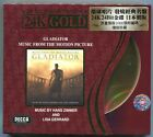 Gladiator Soundtrack Japan 24K GOLD 24 BIT Limited 1000 Numbered CD Hans Zimmer