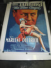 THE BLUE ANGEL REPRODUCTION US ONE SHEET MOVIE POSTER MARLENE DIETRICH