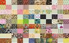 100 Assorted Quilt Fabrics in 1 Charm Pack 5 Cotton Quilt Squares Block