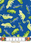 FABRIC BTY Snuggle Flannel 100 Cotton Lizards