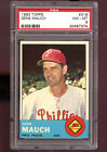 1963 Topps #318 Gene Mauch Phillies Manager PSA 8 NM-MT Graded Baseball Card