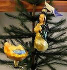 Lauscha Ornaments Set of 2 Baby LORD JESUS  Mother Virgin Mary Nativity Germany