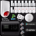 Wired Voice Home Alarm Security System LCD Auto Dialer