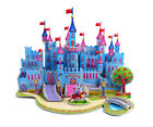 Cute Blue Castle 3D Model DIY Puzzle Jigsaw Crafts Children Kids Toy Great Gift