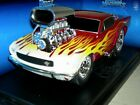66 MUSTANG DK RED WITH FLAMES  2001 MUSCMAC MIB 118 SCALE