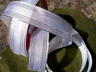 SHEER WHITE WIRED EDGE SATIN CRAFT RIBBON 1.5 INCHES 50 CONTINUOUS YARDS