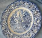 vintage liberty blue staffordshire independence hall England ceramic 10