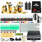 Complete Tattoo Kit 2 Machine Guns 20 color Inks Power Supply Set Needles HW 9GD