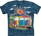 The Mountain T Shirt Batik Tour Bus Peace Hippie used look cool Gr S 5XL