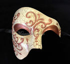 Mens Masquerade Mask Venetian Phantom of the Opera Carnival Costume Prom Party