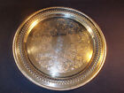 William Rogers Silver Plated Reticulated Tray 15 Inches