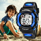 Fashion Men's Boys' Date Alarm Stopwatch Sports LED Digital Rubber Wrist Watch