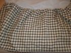 #917  WAVERLY GARDEN ROOM  DOUBLE  BLACK & CREAM CHECK   BED SKIRT RUFFLE