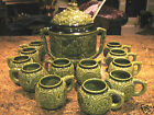 Marzi & Remy German Stoneware Covered Tureen and Cups