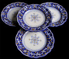 DERUTA ITALIAN  POTTERY 4 HAND PAINTED ANTICO PATTERN DINNER PLATES