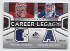 2010-11 SP GAME USED PATRICK ROY CAREER LEGACY DUAL JERSEY #52 75