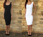 Midi Vest Dress Extra Long For Tall Combed Cotton, Summer Beach Sizes 6 - 18