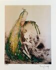 LOUIS ICART PEACOCK Signed Limited Edition Small Giclee Art