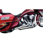 Covingtons Chrome Destroyer 2 Into 1 Exhaust Harley Touring FLH T 1995 2016