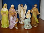 Nativity Set paisley accents Six piece 6 inches tall 06078