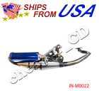 JOG SCOOTER MOPED PERFORMANCE MUFFLER EXHAUST PIPE 50CC 1E40QMB 1PE40QMB Blue