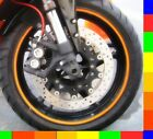 Reflective Motorcycle Rim Tape Bike Wheel Stickers Decals Vinyl Set 17 inch 17