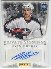 Ryan Murray 2014 Panini Father's Day Private Signings ROOKIE AUTO 5 25 *Q566