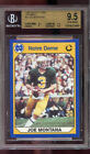1990 Notre Dame PROMO Collegiate Collection #3 Joe Montana Graded Card BGS 9.5