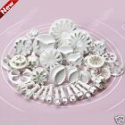 33pcs Sugarcraft Cake Decorating Fondant Icing Plunger Cutters Mold Mould Tools