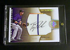 2008 Ultimate Collection Troy Tulowitzki Auto Game Used Pants Card. Gold #21 25